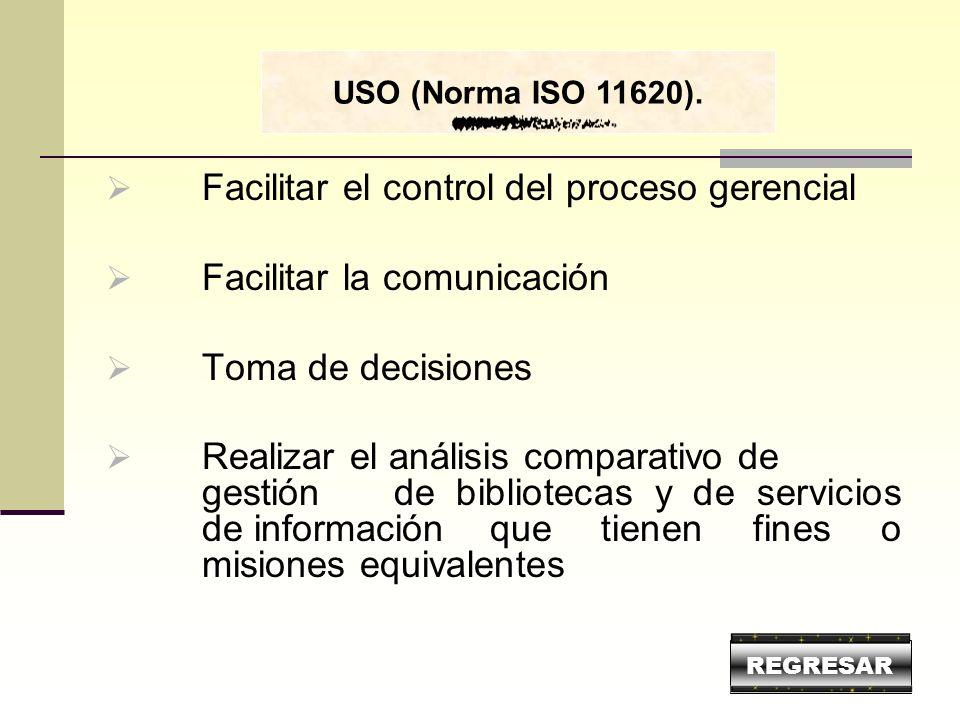 Facilitar el control del proceso gerencial Facilitar la comunicación