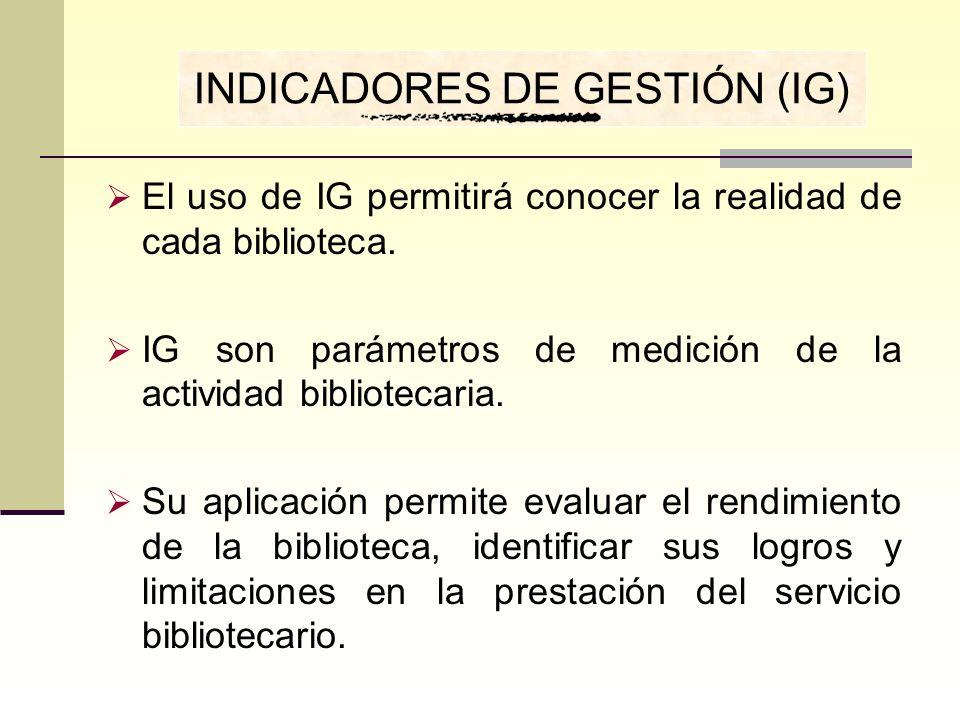 INDICADORES DE GESTIÓN (IG)