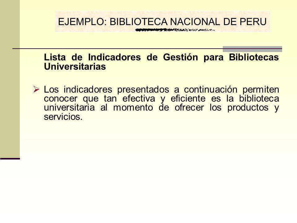 EJEMPLO: BIBLIOTECA NACIONAL DE PERU