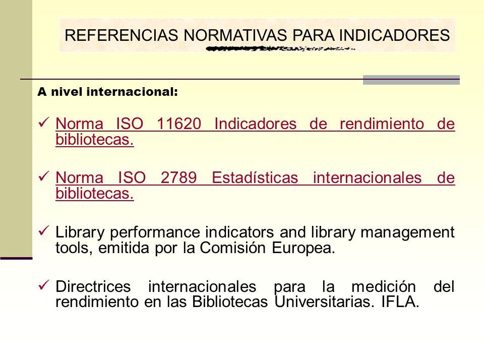 REFERENCIAS NORMATIVAS PARA INDICADORES