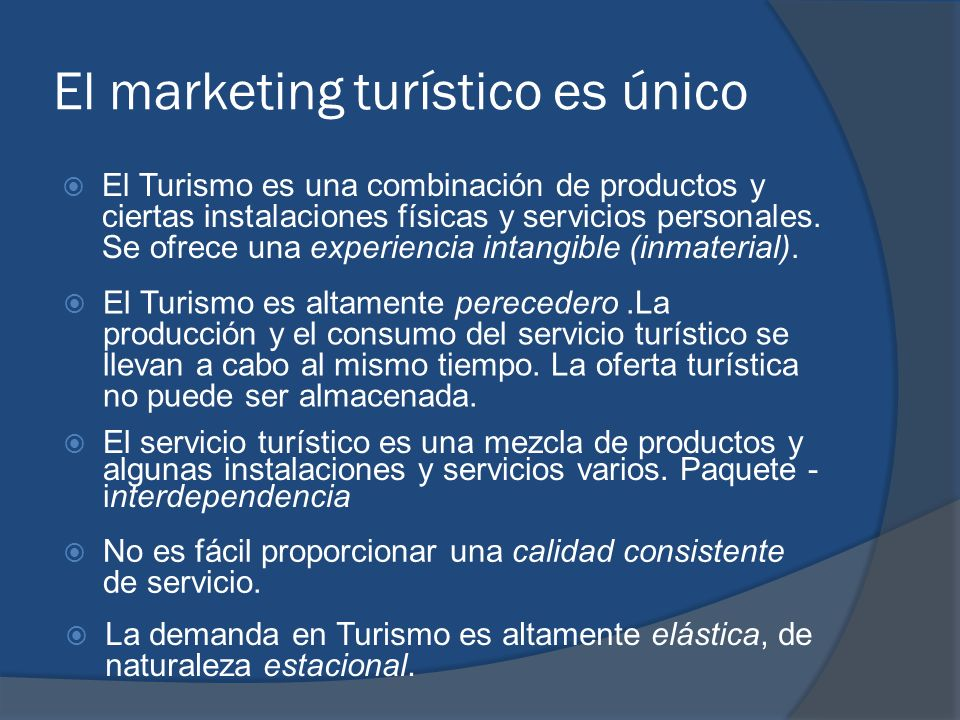 El marketing turístico es único