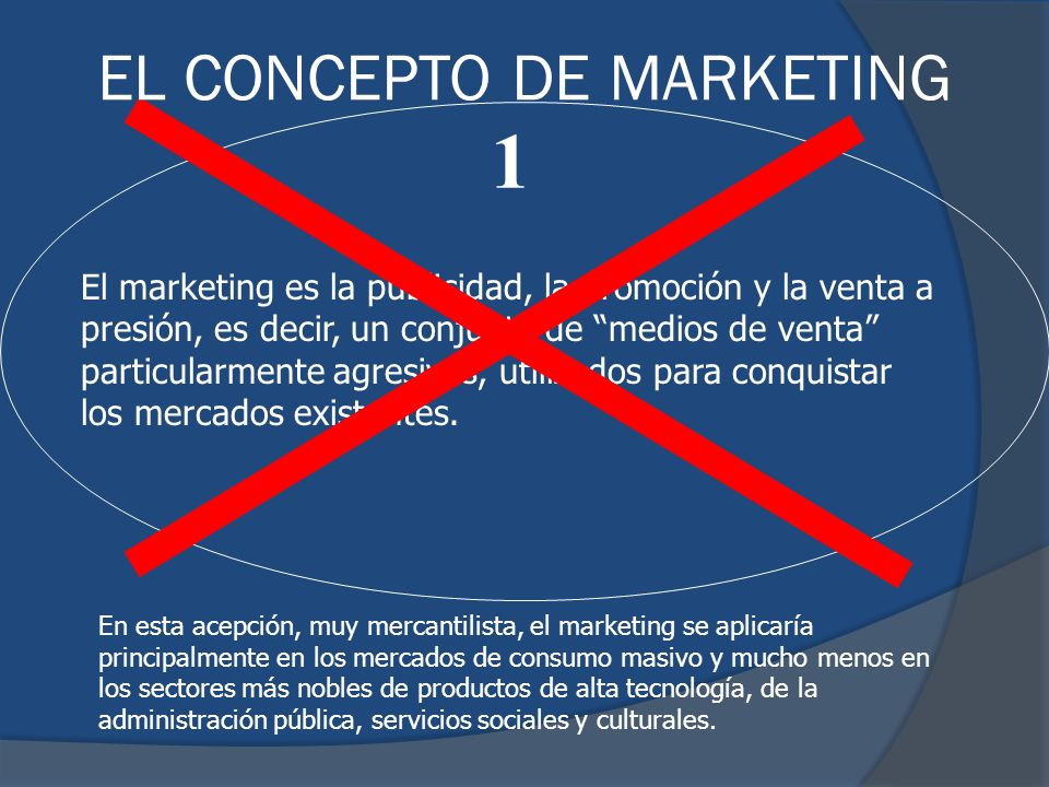 1 EL CONCEPTO DE MARKETING