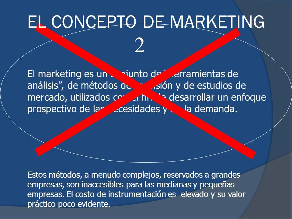 2 EL CONCEPTO DE MARKETING