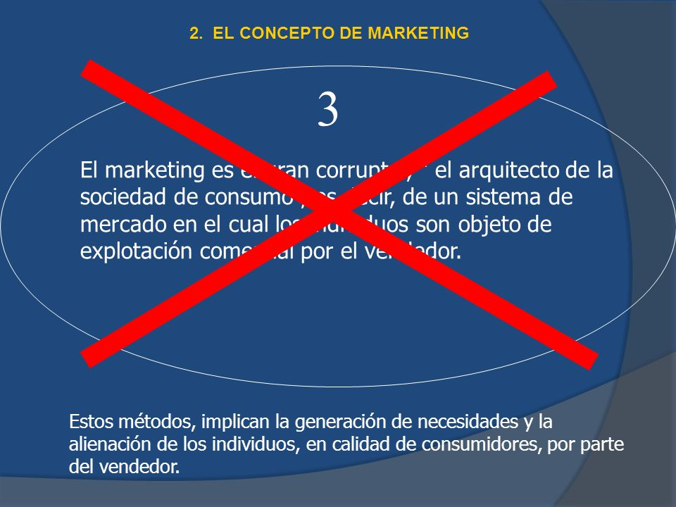 2. EL CONCEPTO DE MARKETING