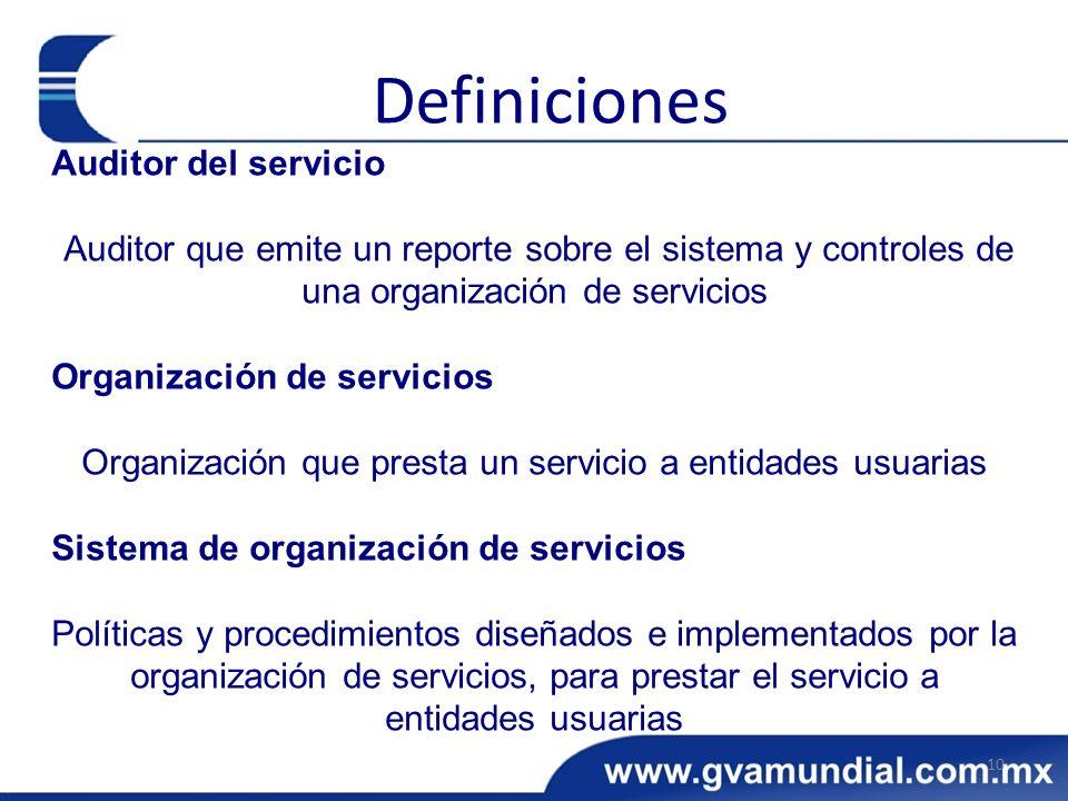 Organización que presta un servicio a entidades usuarias