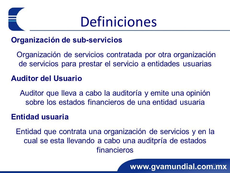 Definiciones Organización de sub-servicios