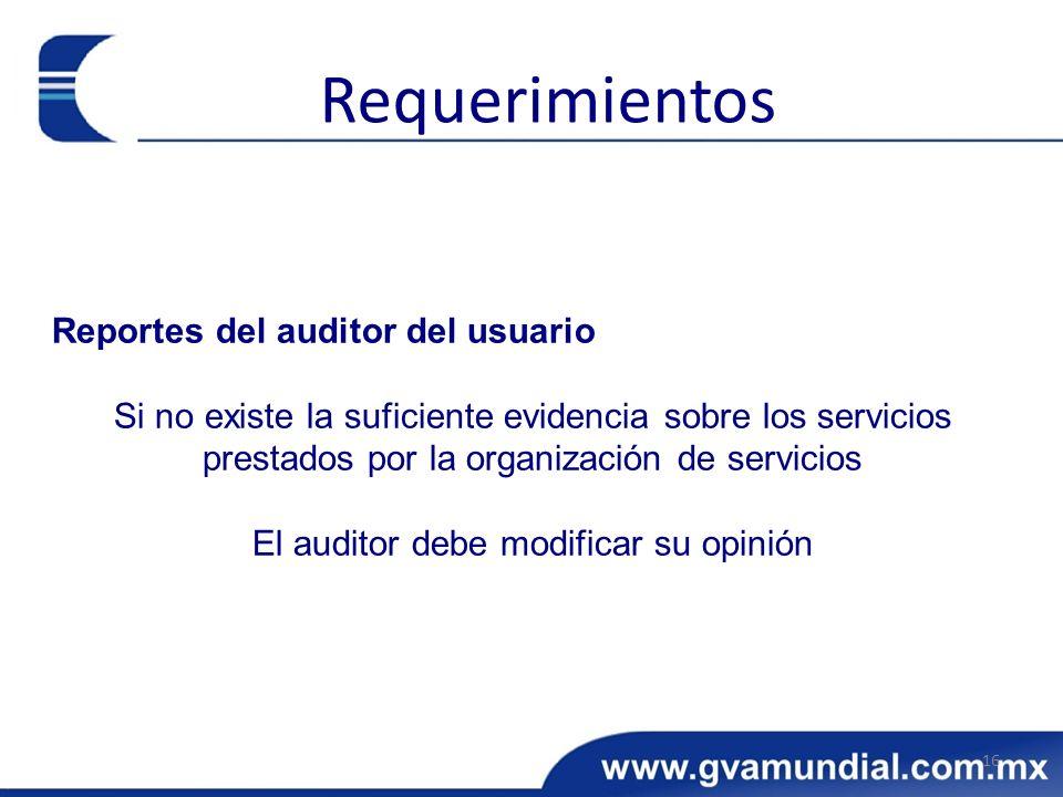 El auditor debe modificar su opinión