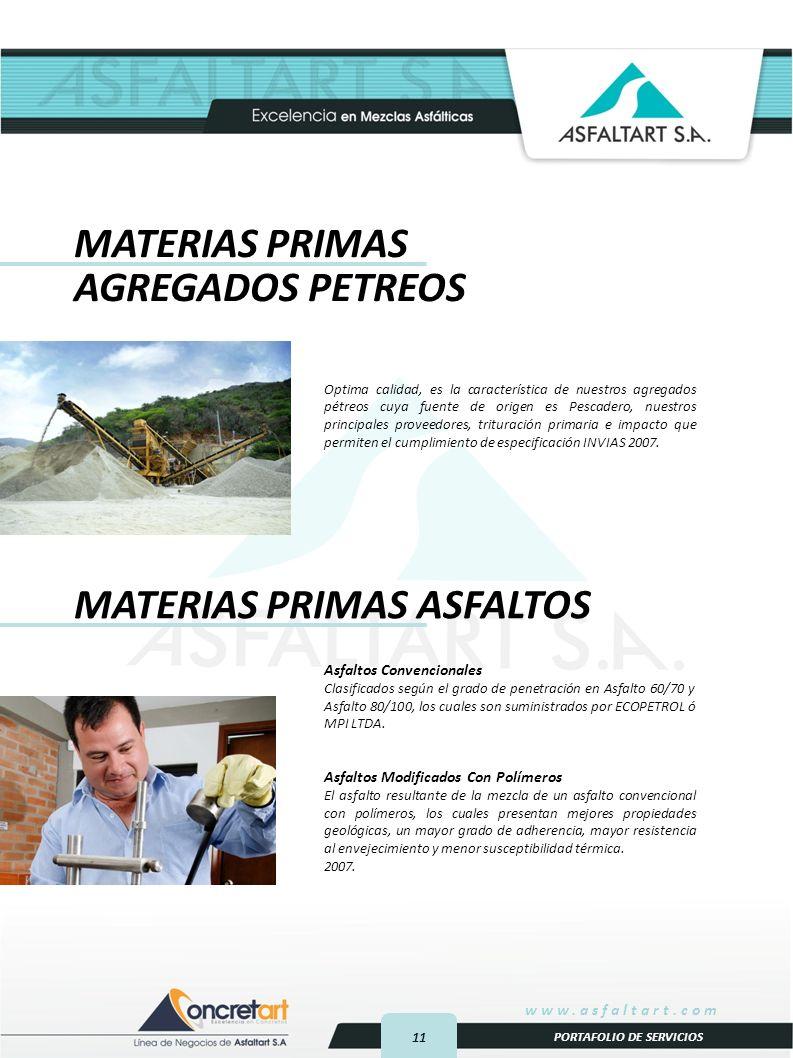 MATERIAS PRIMAS ASFALTOS