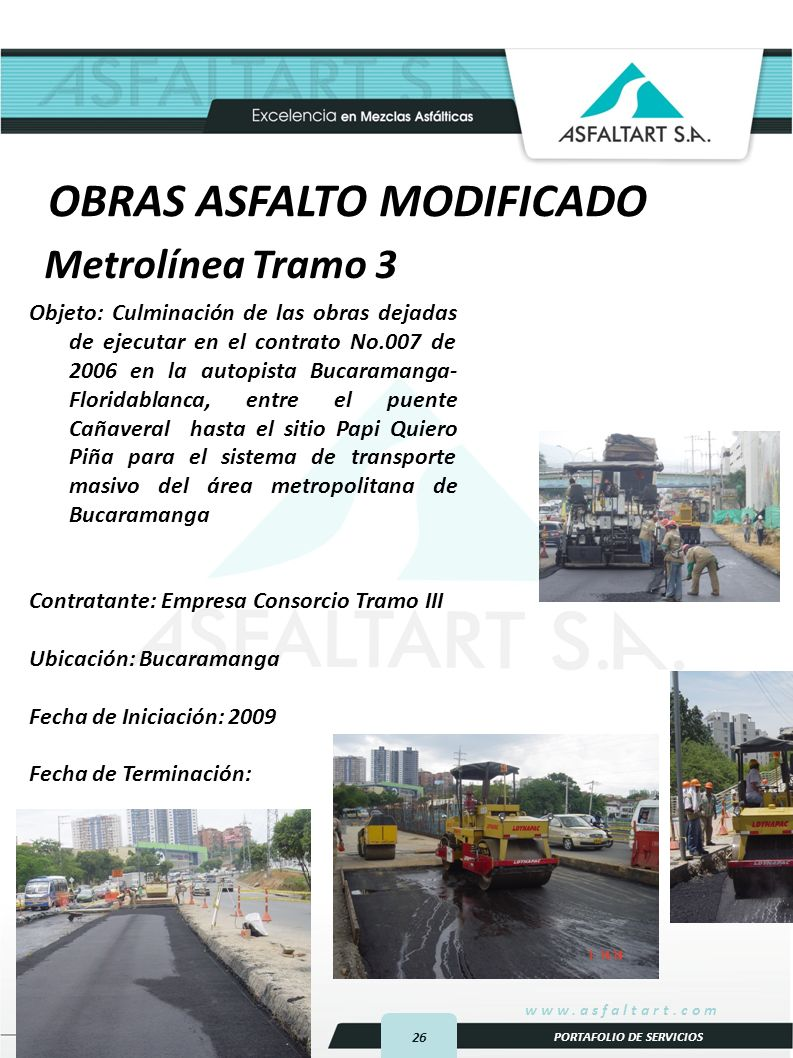 OBRAS ASFALTO MODIFICADO