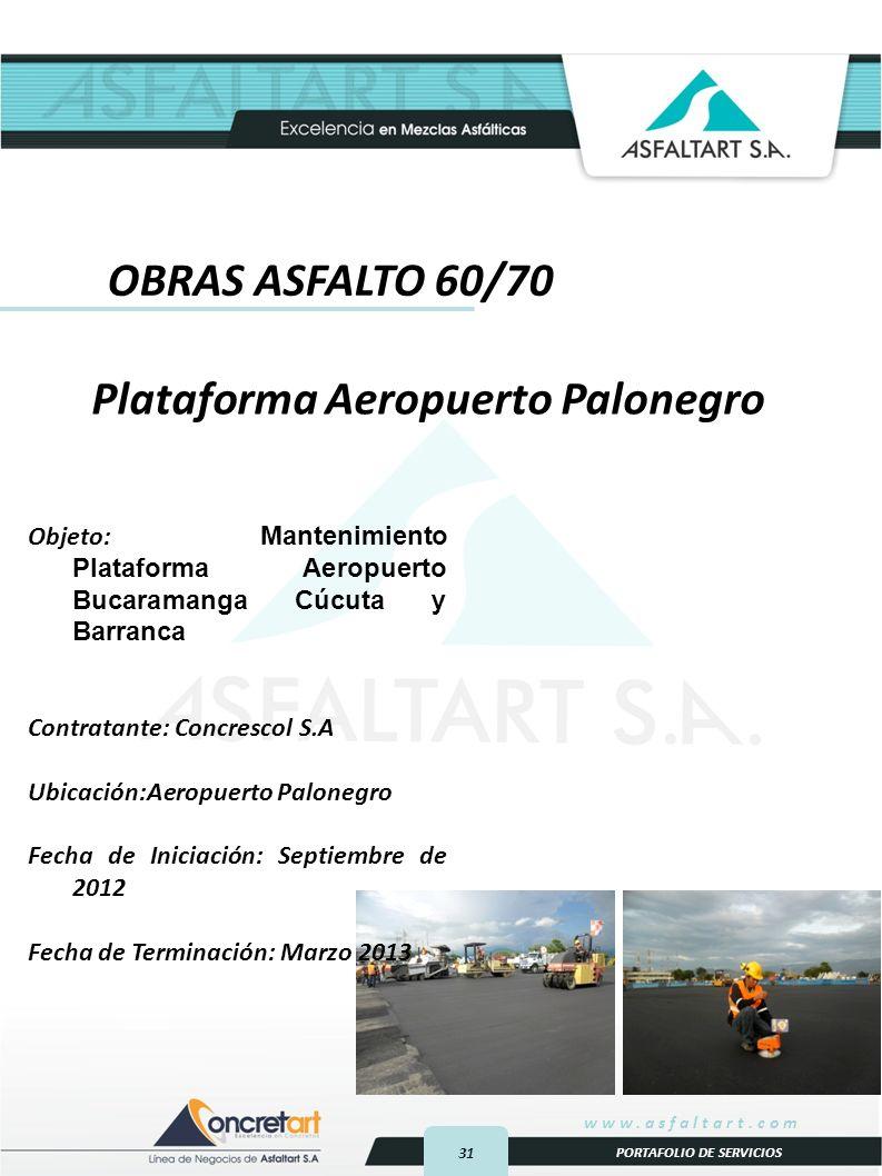 Plataforma Aeropuerto Palonegro