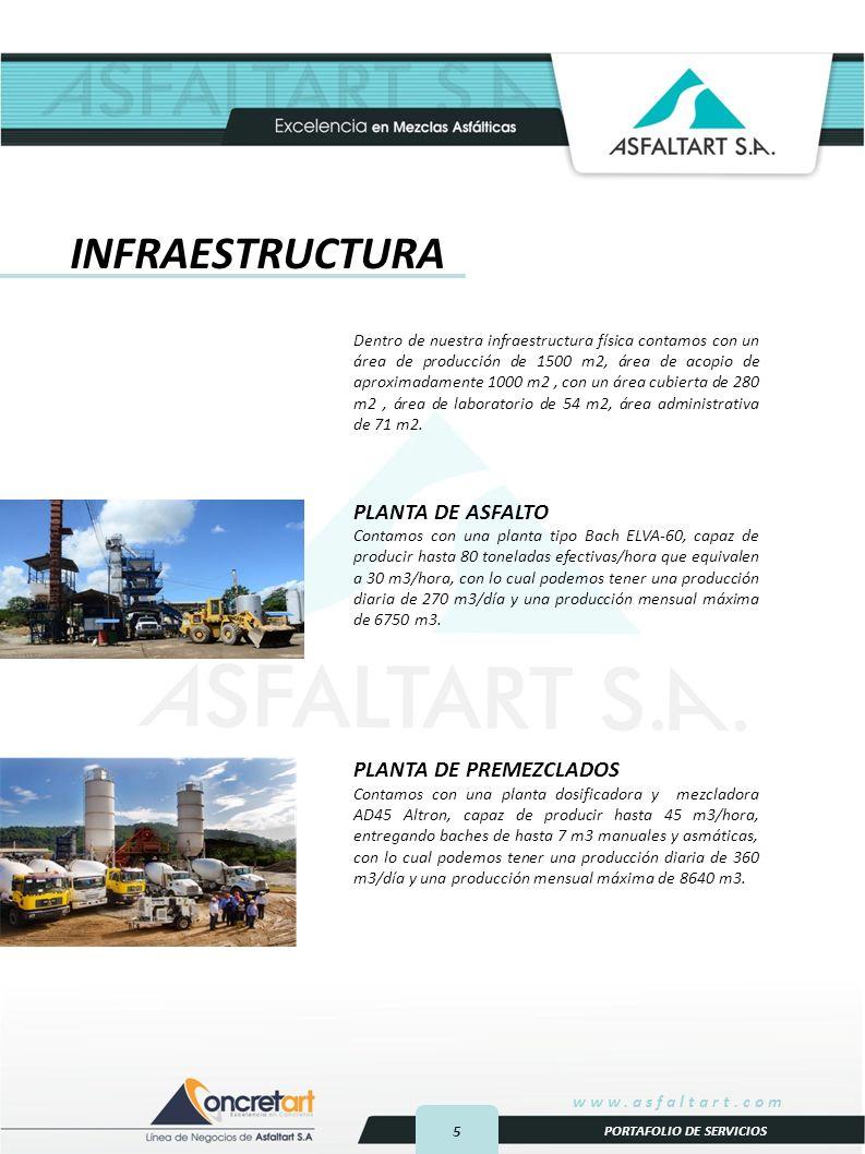 INFRAESTRUCTURA PLANTA DE ASFALTO PLANTA DE PREMEZCLADOS