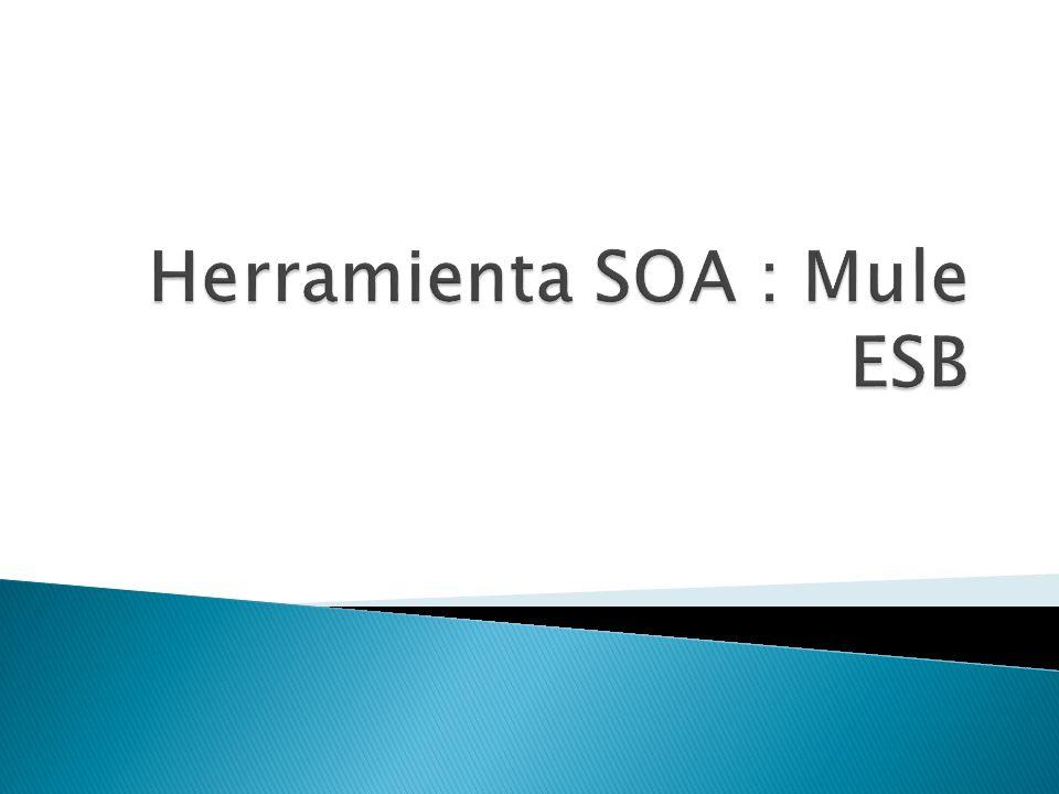 Herramienta SOA : Mule ESB