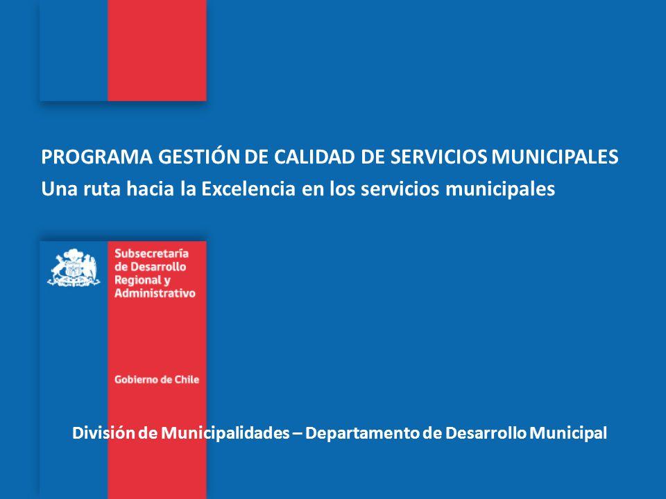 División de Municipalidades – Departamento de Desarrollo Municipal