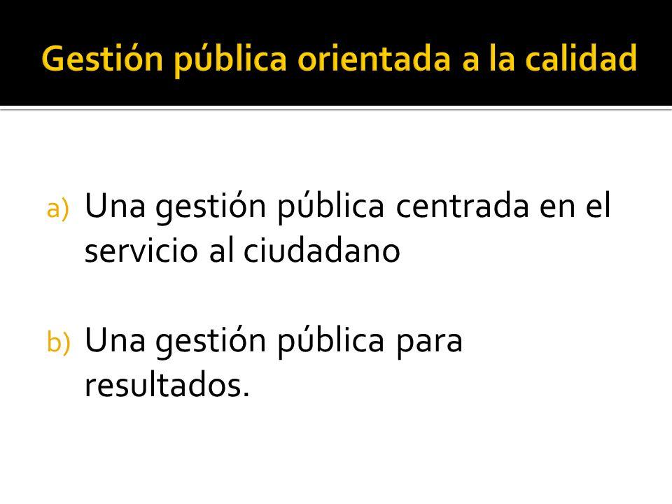 Gestión pública orientada a la calidad