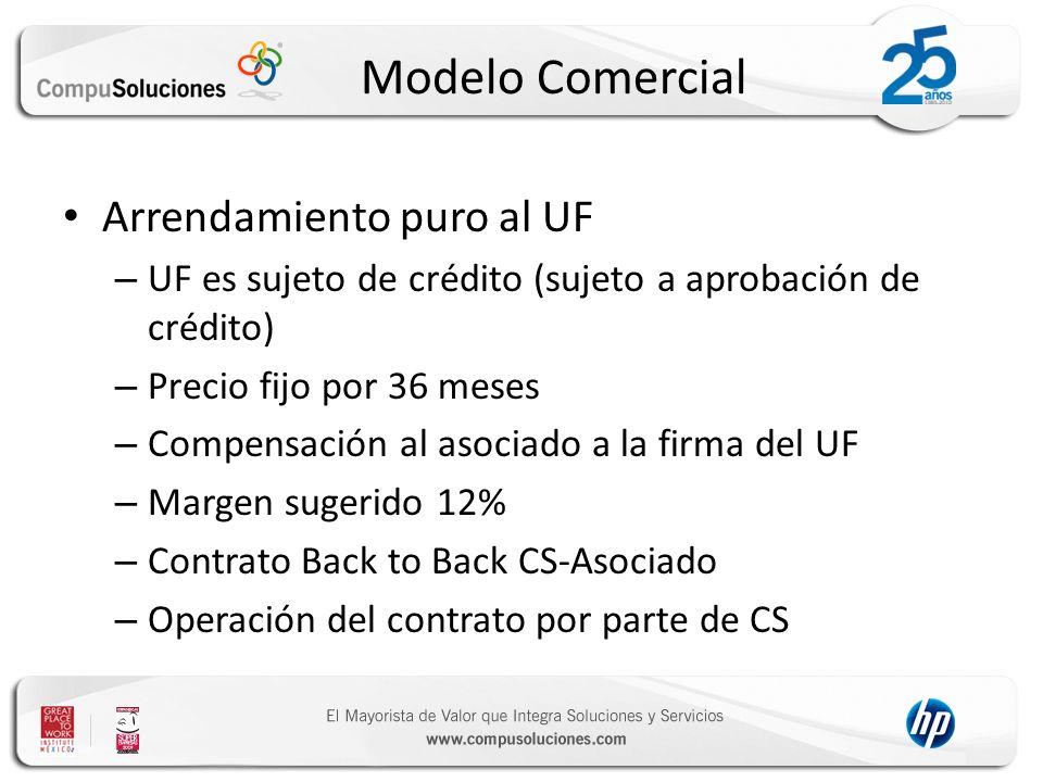Modelo Comercial Arrendamiento puro al UF