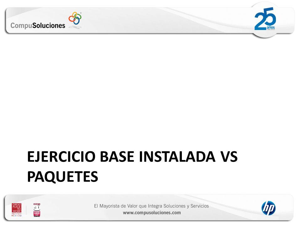 Ejercicio base instalada vs paquetes