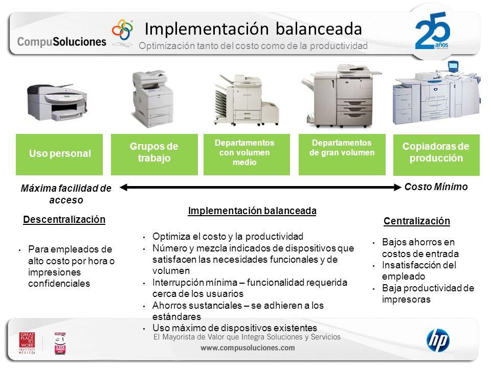 Implementación balanceada Optimización tanto del costo como de la productividad