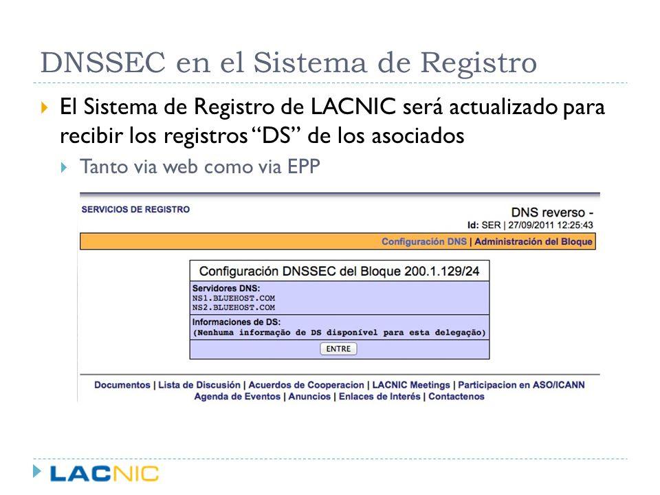 DNSSEC en el Sistema de Registro
