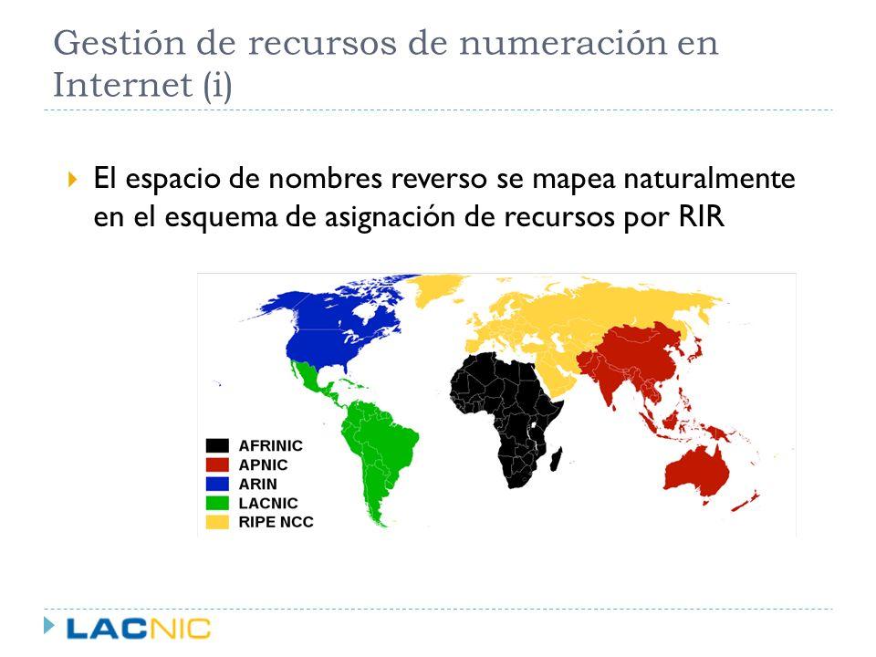 Gestión de recursos de numeración en Internet (i)