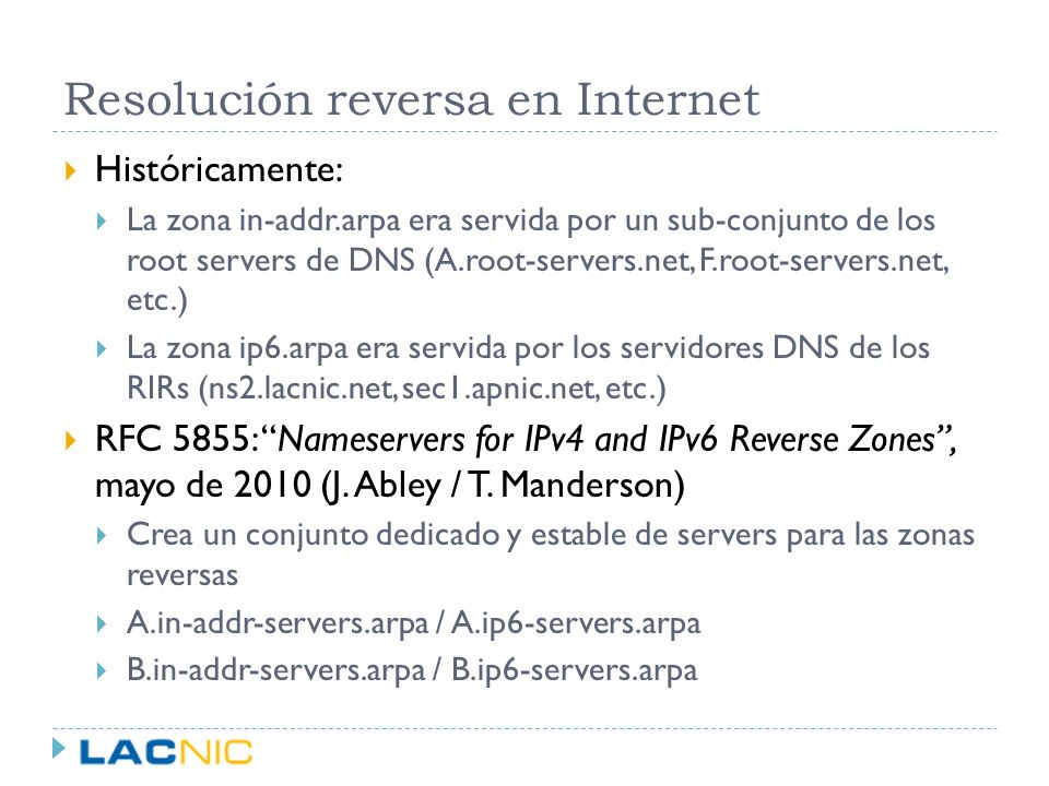 Resolución reversa en Internet