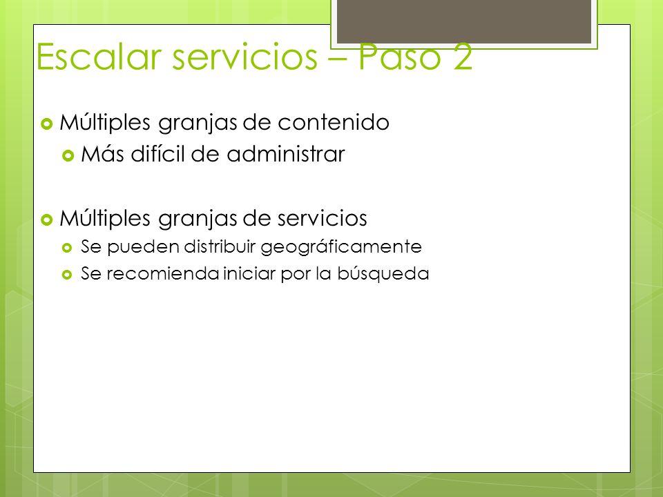 Escalar servicios – Paso 2