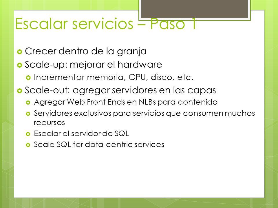 Escalar servicios – Paso 1