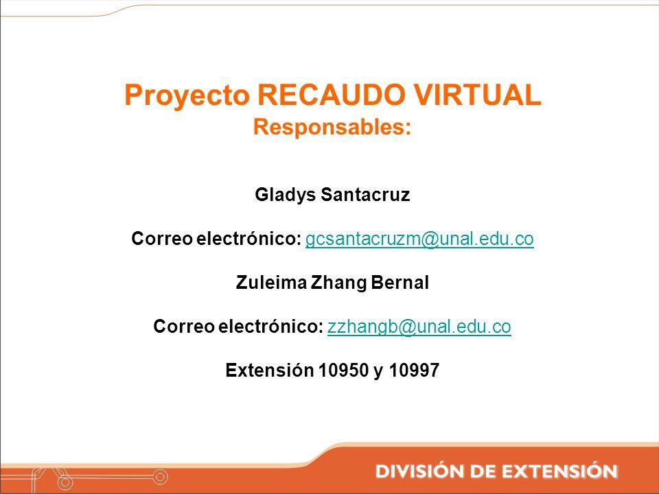 Proyecto RECAUDO VIRTUAL
