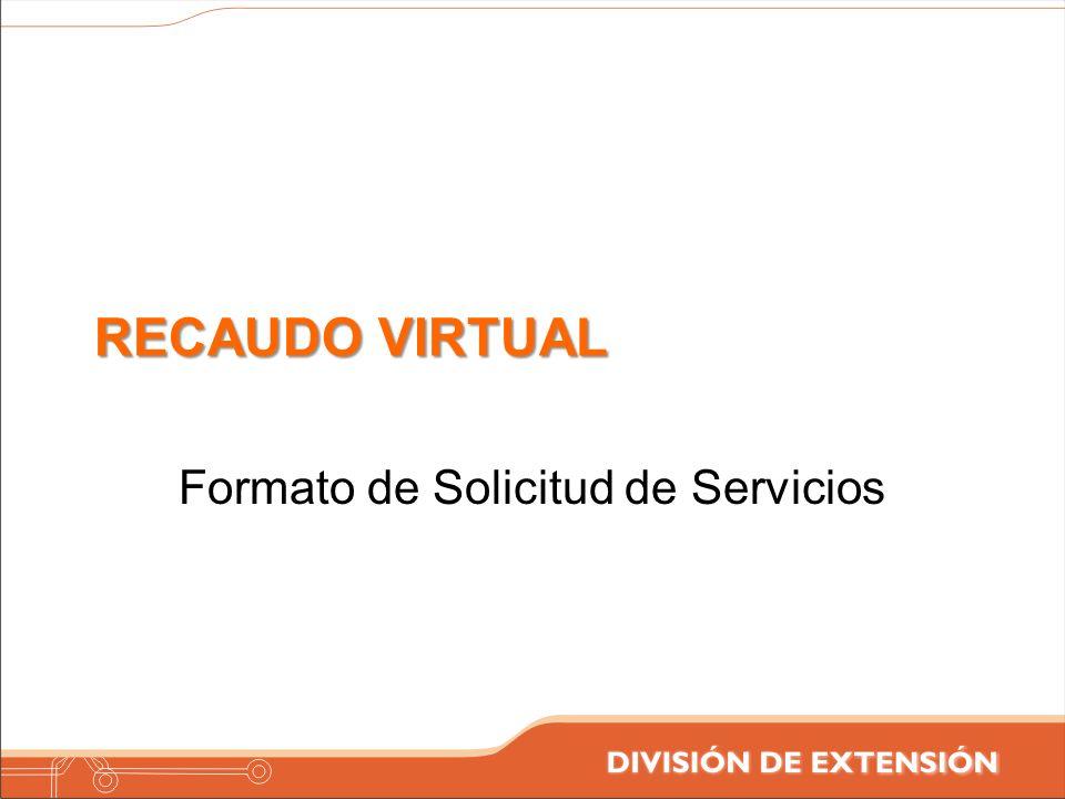 Formato de Solicitud de Servicios