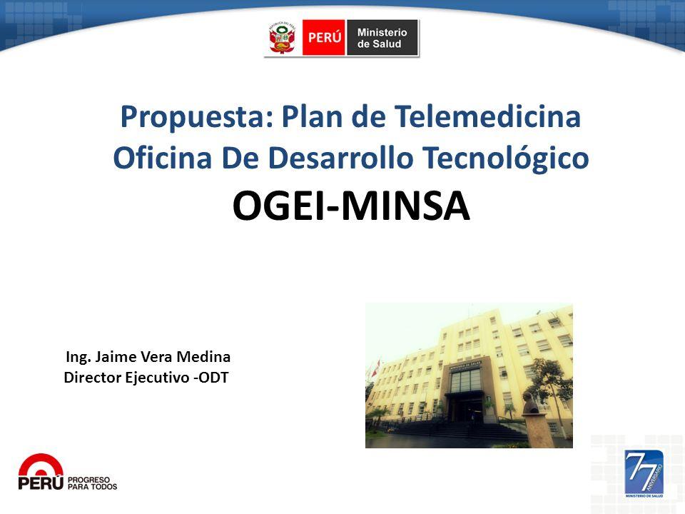 OGEI-MINSA Propuesta: Plan de Telemedicina