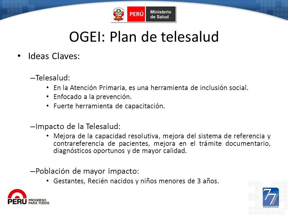 Ogei OGEI: Plan de telesalud