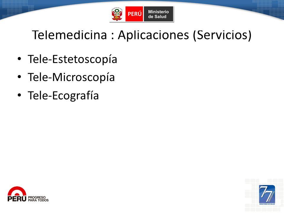 Telemedicina : Aplicaciones (Servicios)
