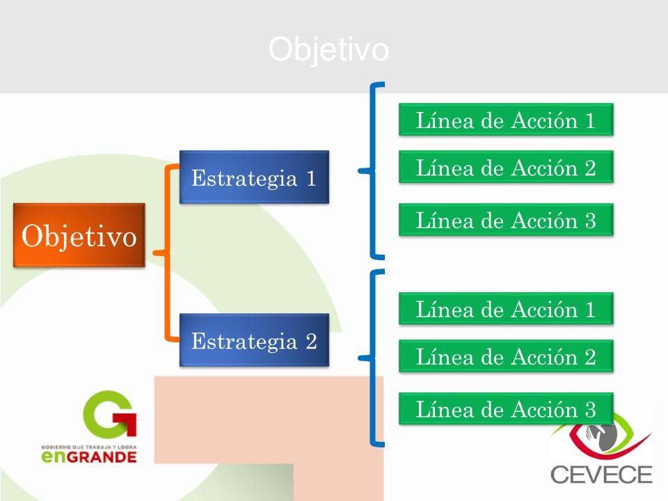 Objetivo Objetivo Línea de Acción 1 Línea de Acción 2 Estrategia 1