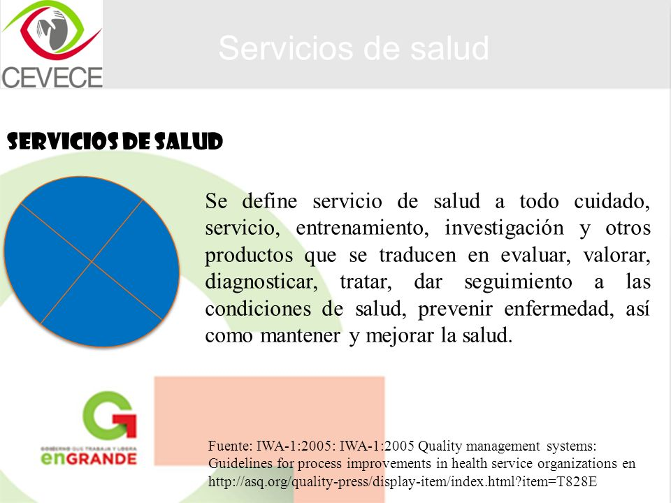 Servicios de salud SERVICIOS DE SALUD