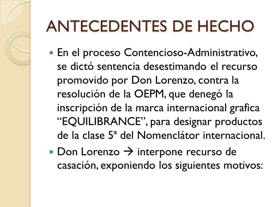 ANTECEDENTES DE HECHO