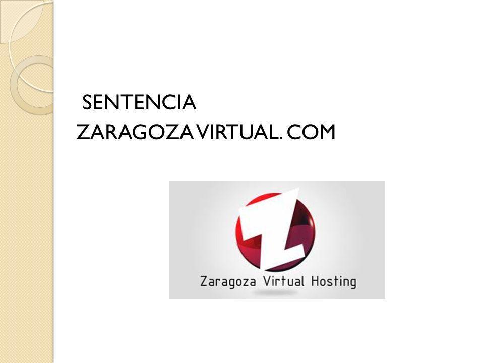 SENTENCIA ZARAGOZA VIRTUAL. COM