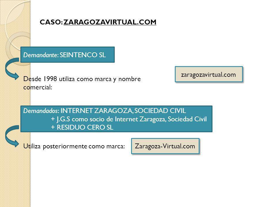 CASO: ZARAGOZAVIRTUAL.COM