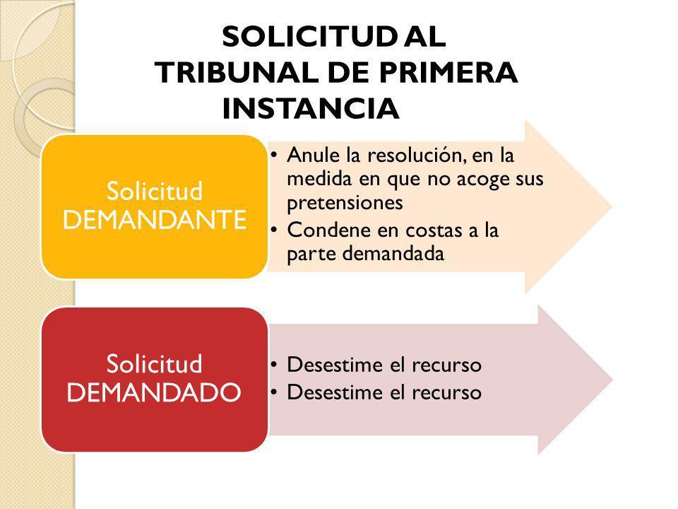 SOLICITUD AL TRIBUNAL DE PRIMERA INSTANCIA