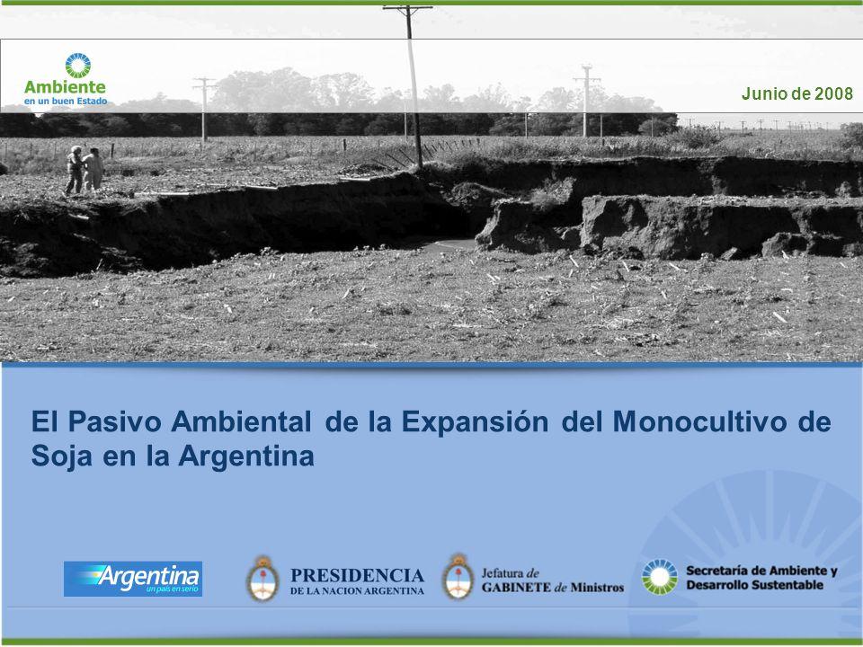Junio de 2008 El Pasivo Ambiental de la Expansión del Monocultivo de Soja en la Argentina.