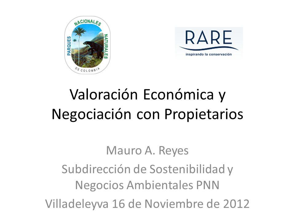 Valoración Económica y Negociación con Propietarios