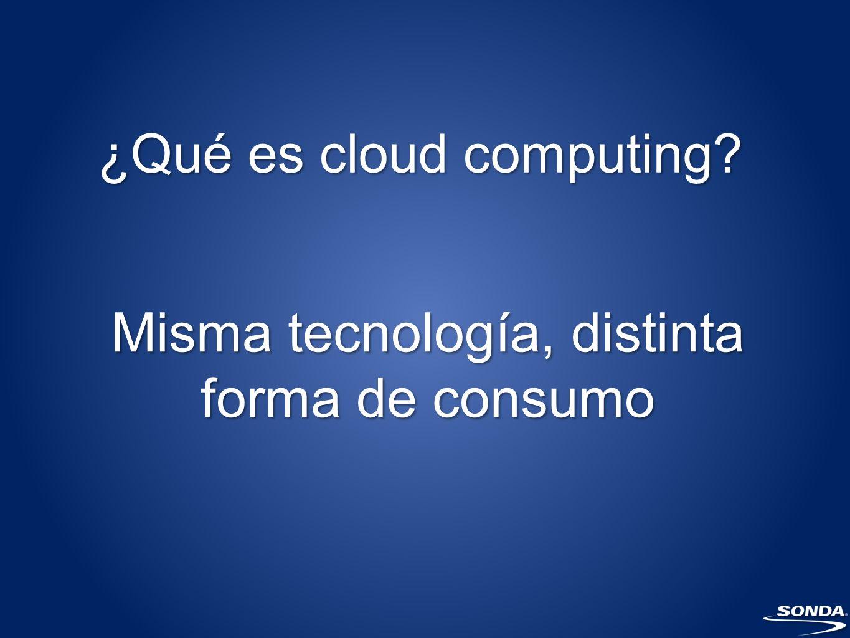 ¿Qué es cloud computing