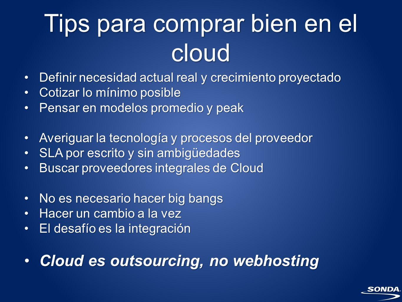Tips para comprar bien en el cloud