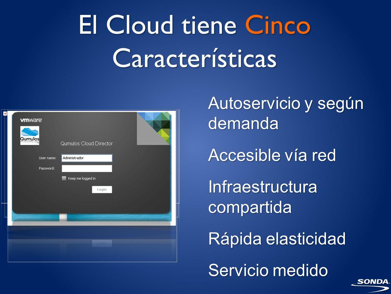 El Cloud tiene Cinco Características