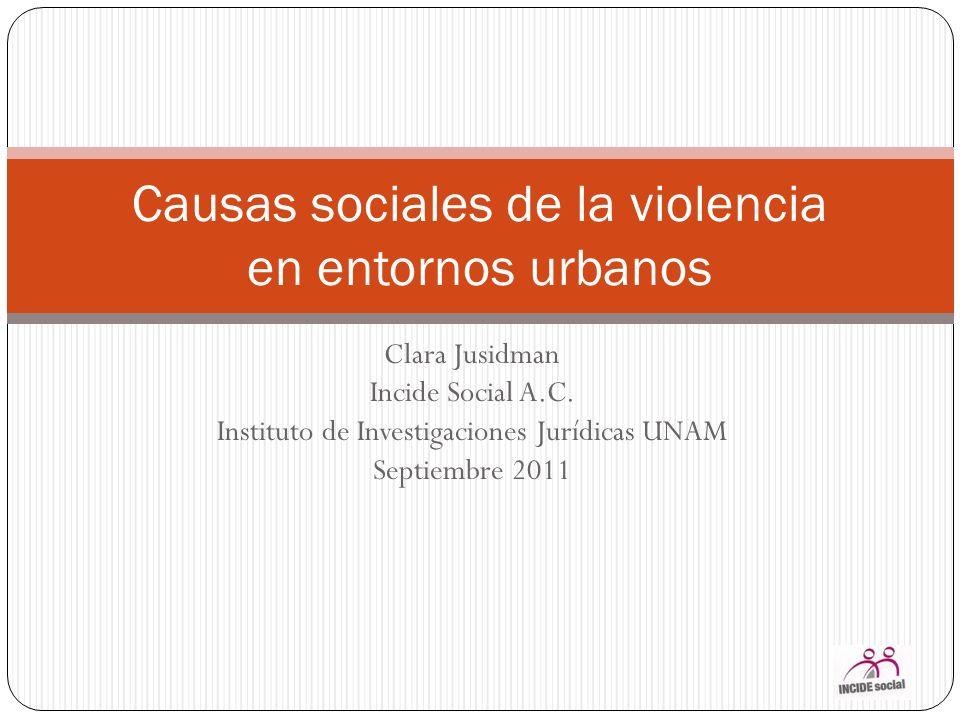 Causas sociales de la violencia en entornos urbanos