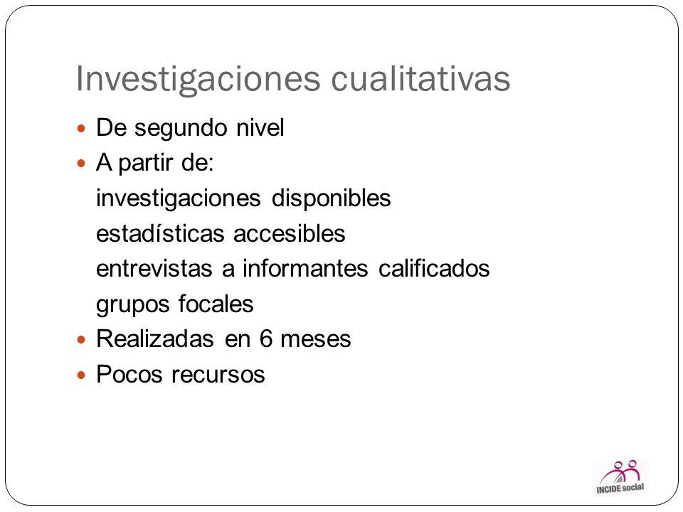 Investigaciones cualitativas