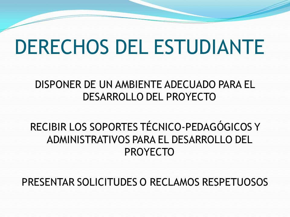 DERECHOS DEL ESTUDIANTE