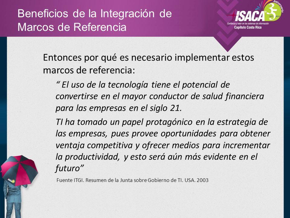 Beneficios de la Integración de Marcos de Referencia