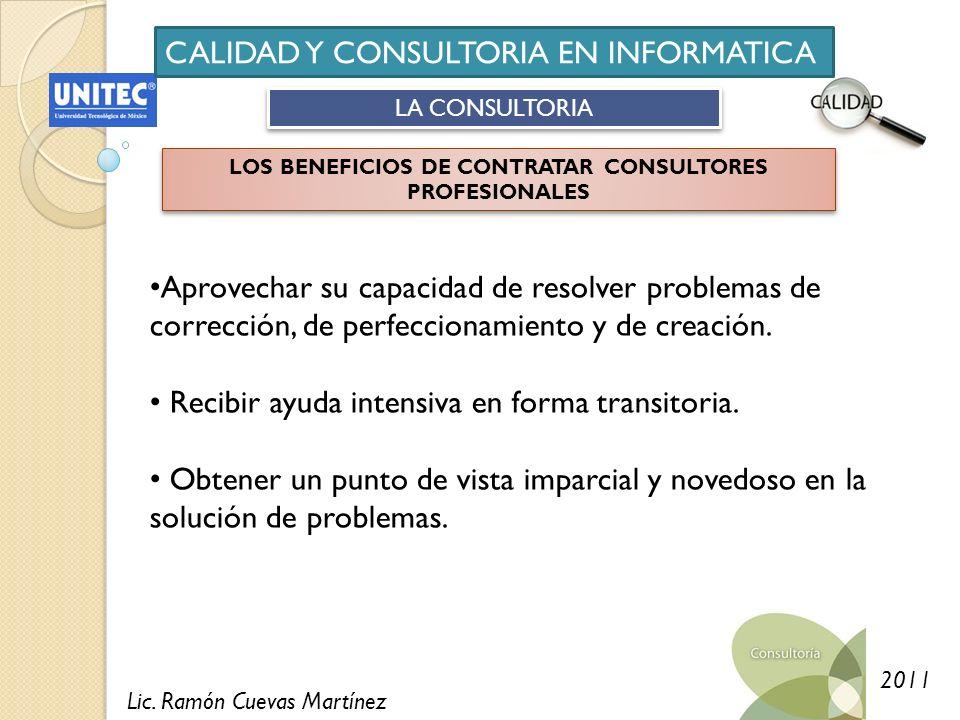LOS BENEFICIOS DE CONTRATAR CONSULTORES PROFESIONALES