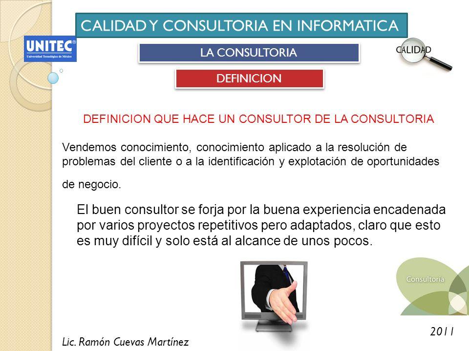 CALIDAD Y CONSULTORIA EN INFORMATICA