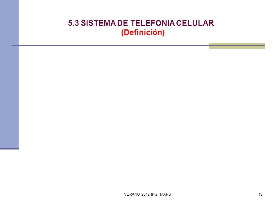 5.3 SISTEMA DE TELEFONIA CELULAR (Definición)
