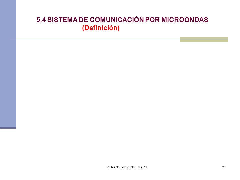 5.4 SISTEMA DE COMUNICACIÓN POR MICROONDAS (Definición)